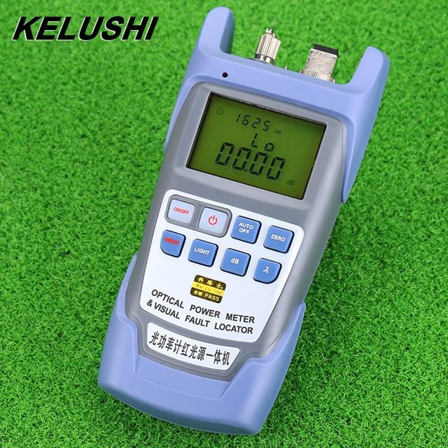 KELUSHI All IN ONE FTTH miernik światłowodowy 70 do + 10dbm i 10mw 10km Tester kabli światłowodowych lokalizator uszkodzeń wizualnych