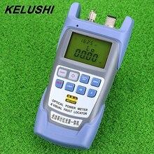 KELUSHI tout en un FTTH compteur de puissance à fibres optiques 70 à + 10dbm et 10mw 10km testeur de câbles à fibres optiques localisateur de défauts visuels