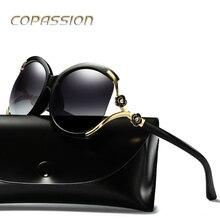 2017 do vintage flor manchas enormes óculos de sol óculos polarizados óculos de sol das mulheres designer de marca de luxo de óculos de sol oculos de sol feminino