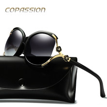 2017 vintage flower polarized sunglasses women brand designer luxury oversized sun glasses spots sunglass oculos de sol feminino(China)
