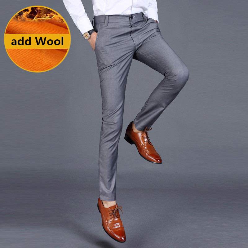 The new 2016 men fine wool in winter to keep warm pure color fashion business formally