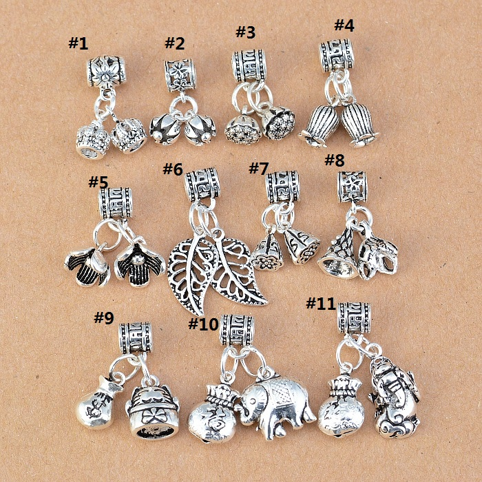 100% 925 Silver Crown Charm DIY Bracelet Charm Good Luck Charm Jewelry Small Pendant