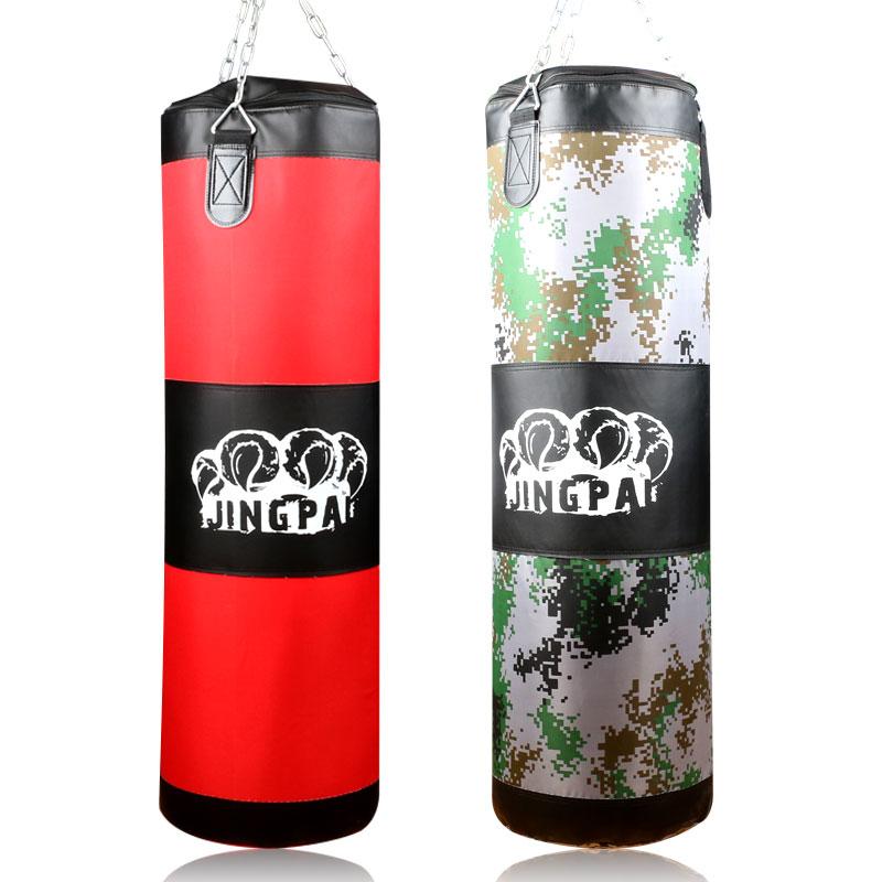 Livraison gratuite 100 cm entraînement Fitness MMA sac de boxe crochet suspendu coup de pied sac de combat sable Muay Thai Sanda formation sac de sable (vide)