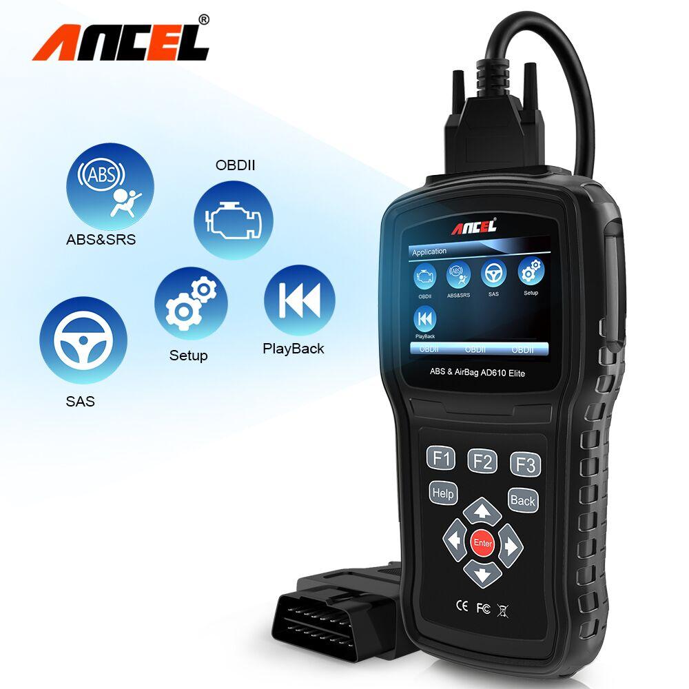 Ancel AD610 OBD2 Scanner ABS Airbag SAS ENG Diagnostic Tool Crash Data Reset ODB Scanner Multi