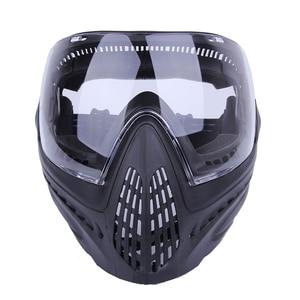 Image 3 - FMA F1 חיצוני פיינטבול מסכת Airsoft בטיחות מגן נגד ערפל Goggle מלא מסיכת פנים עם שחור/רעיוני/צהוב/נקי עדשה