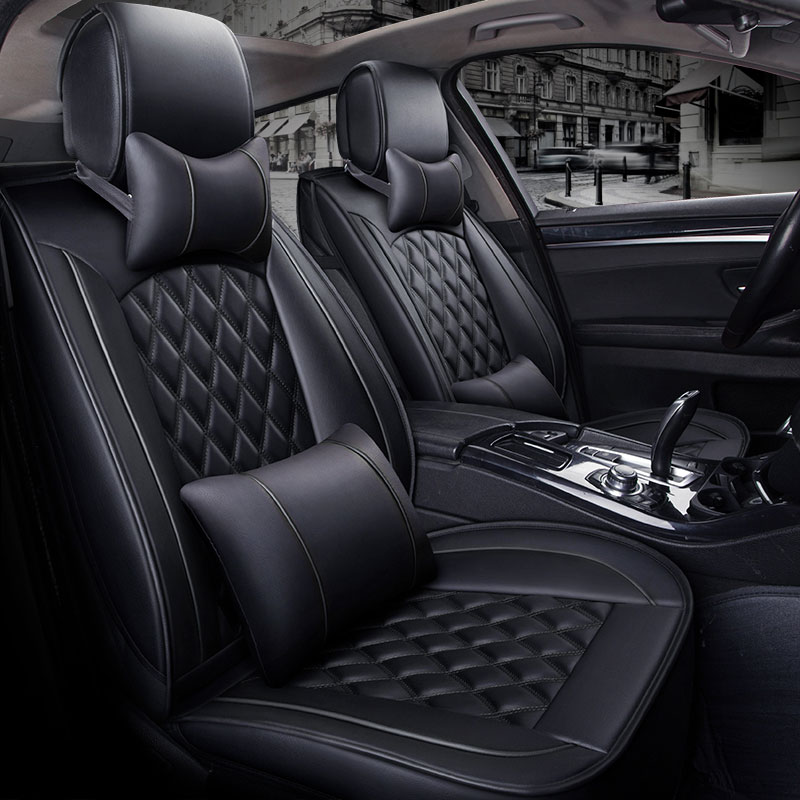 (Front +Rear) Special Leather Car Seat Cover auto seats cushion for ford lacetti lanos fiesta sedan edge everest mustang ranger