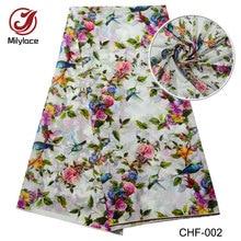 African Digital flower pattern printed Chiffon fabric hot selling party chiffon 5 yards per lot CHF-002
