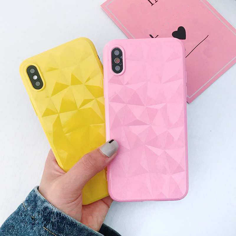 3D Diamond Case For iPhone XR XS Max Cute TPU Candy Coque Cover For iPhone 7 8 6s 6 s plus Soft Silicone Cases XR 8plus Fundas