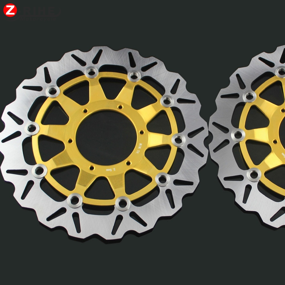 2PCS Front Floating Brake Disc Rotor motorcycle parts Aluminum  Brake Rotors For HONDA CBR1000 CBR 1000 06-07 2006 2007 07 06 коврик с подогревом теплолюкс carpet 80х50 см коричневый