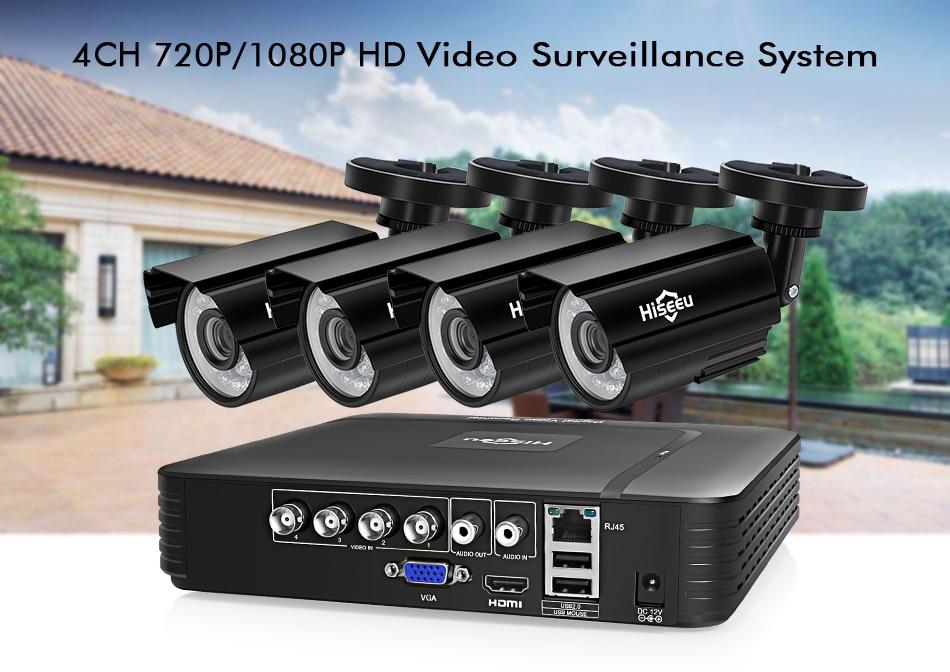 HTB1ku46XzDuK1Rjy1zjq6zraFXan Hiseeu CCTV camera System 4CH 720P/1080P AHD security Camera DVR Kit CCTV waterproof Outdoor home Video Surveillance System HDD