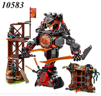 AIBOULLY NEW 734pcs Ninja New 10583 Dawn of Iron Doom DIY Model Building Kit Blocks figures Toys Playset Compatible with 70626