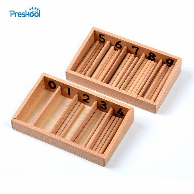 Caja de husillo de juguete para bebés versión familiar con 45 husillos Montessori matemáticas aprendizaje y educación juguetes educativos varilla de husillo