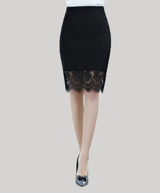 Women Lace long designer Nylon skirt