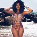 Hot Vintage Retro de Las Mujeres de Impresión Digital Sexy Body Sexy Monos Mamelucos del Verano de Playa traje de Baño