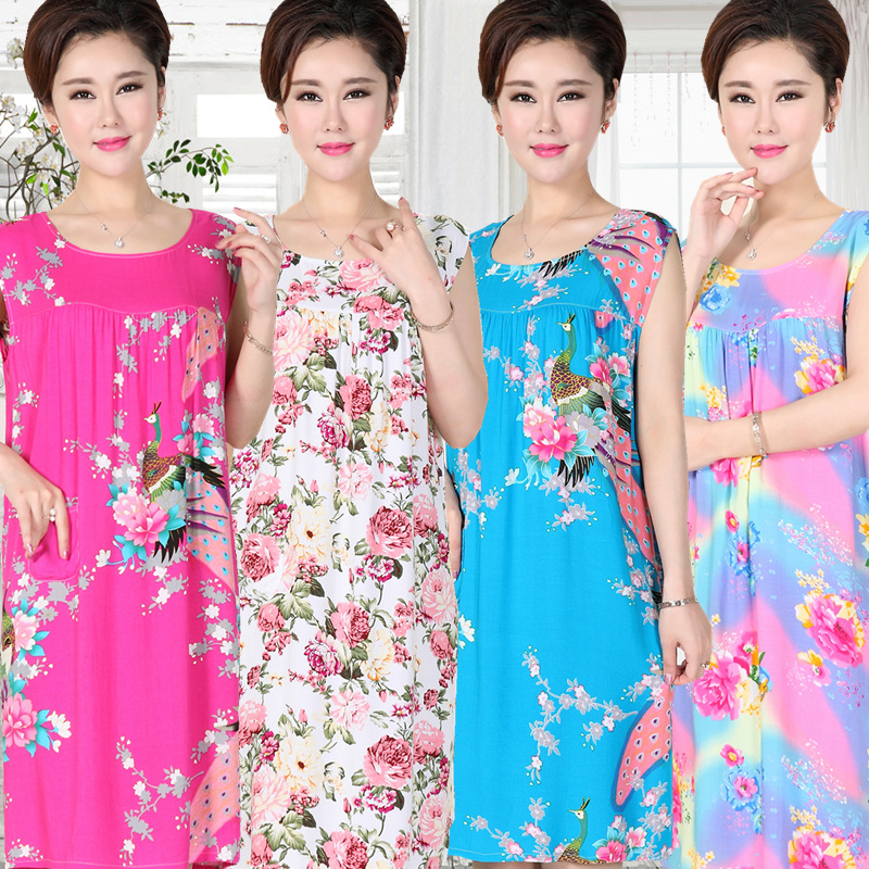 2018 New Summer Elegant Women Nightgowns Sleep Nightdress Viscose Lingerie Sleepwear Spring Robe Dress Gown Female Home Clothing