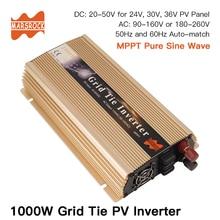 1000 Вт сетки галстук инвертора микро-инвертор, 20V-50VDC, 90 V-140 V или 190V-260VAC, работоспособность для 1200 Вт, 24 В, 30 в, 36 В солнечная панель или ветровая системы