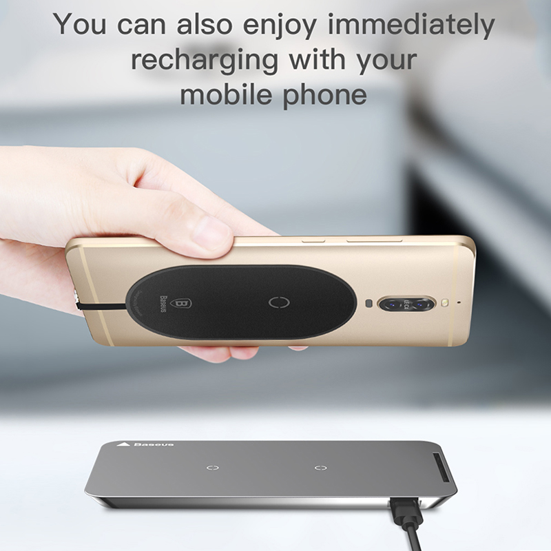 QI Wireless Charger Receiver For USB Type-C, Micro & iPhone (For older phones who do not support wireless charging) 2