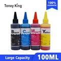 Toney Rei 100 ml Universal kit de Substituição de Refil de Tinta Corante Para HP para Impressora Epson para Canon para o Irmão de tinta de Impressora tanque ciss