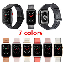 Sports Strap For Apple Watch Band4/3/2/1 Iwatch Series 44/42/40/38mm color series Genuine Leather Strap Skinned silicone Classic