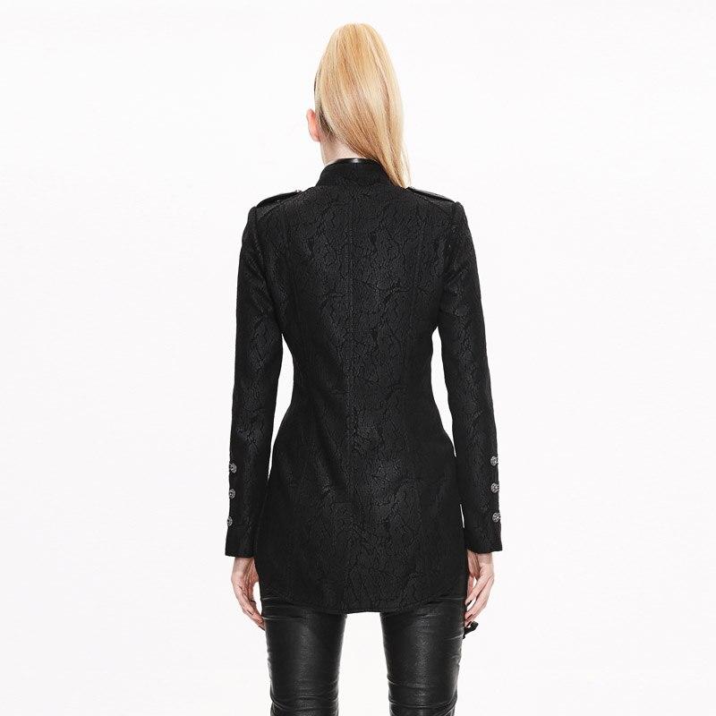 Devil Fashion Punk Vintage Military Jacken Frauen 2019 Schwarz - Damenbekleidung - Foto 3