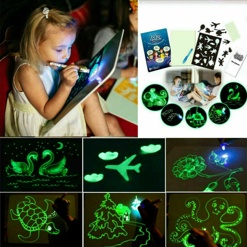 2019 Draw With Light Fun And Developing Toy Drawing Board Magic Draw Educational
