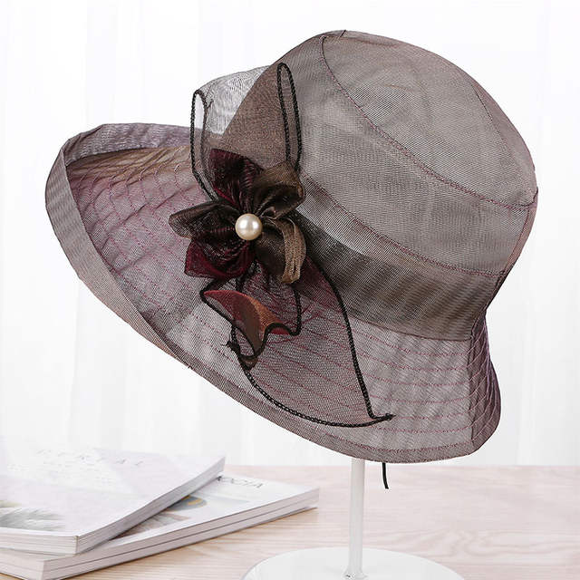 a5f48a8b77e2e Fashion Women s Sun Hat Church Hats For Women Flower Hat Summer Gorras Wedding  Kentucky Derby Wide