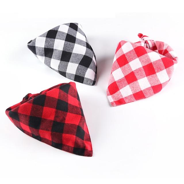 d503bbf9c70 1PC Red Buffalo Plaid Dog Bandana Black Check Cat Bandana Cotton Pet Scarf  Neckerchief Multipurpose S L Drop Shipping
