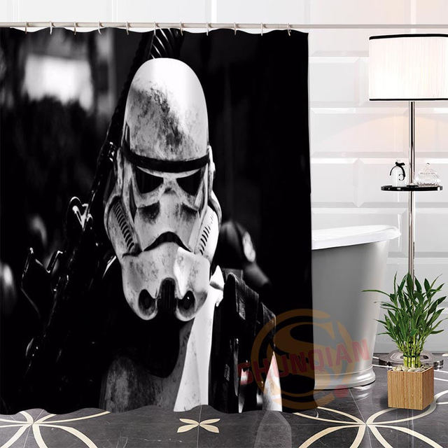 Hot New Eco Friendly Custom Unique Star Wars Scout Trooper Modern Shower  Curtain Bathroom With
