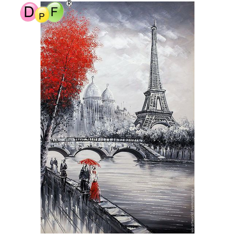 DPF The tower is located in mangrove 5D diamond embroidery home decor diamond mosaic square crafts diamond painting cross stitch