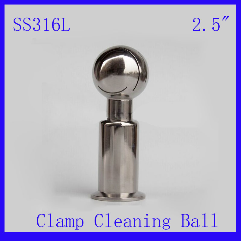 HOT 2.5 SS316L Stainless Steel Rotary  Spray Cleaning Ball  Clamp Tank cleaning ball washing ball  CIP cleaning head hot 1 5 ss316l stainless steel rotary spray cleaning ball cip tri clampe tank cleaning ball