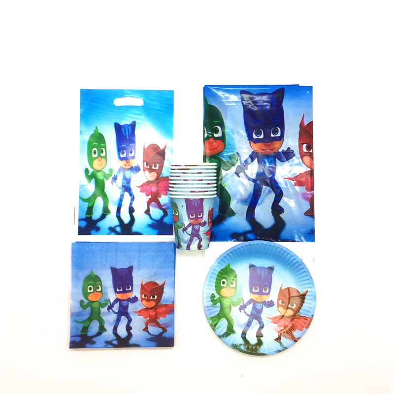 81PCS/set High Quality Pj Masks childrenfavor HappyBirthday Party Childrens day Supplies Decoration Cartoon Party Supplies