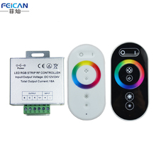 DC12-24V 6A/CH 18A Aluminum Shell RGB LED Controller RF Full Touch Remote Control LED Dimmer For RGB LED Strip Free Shipping