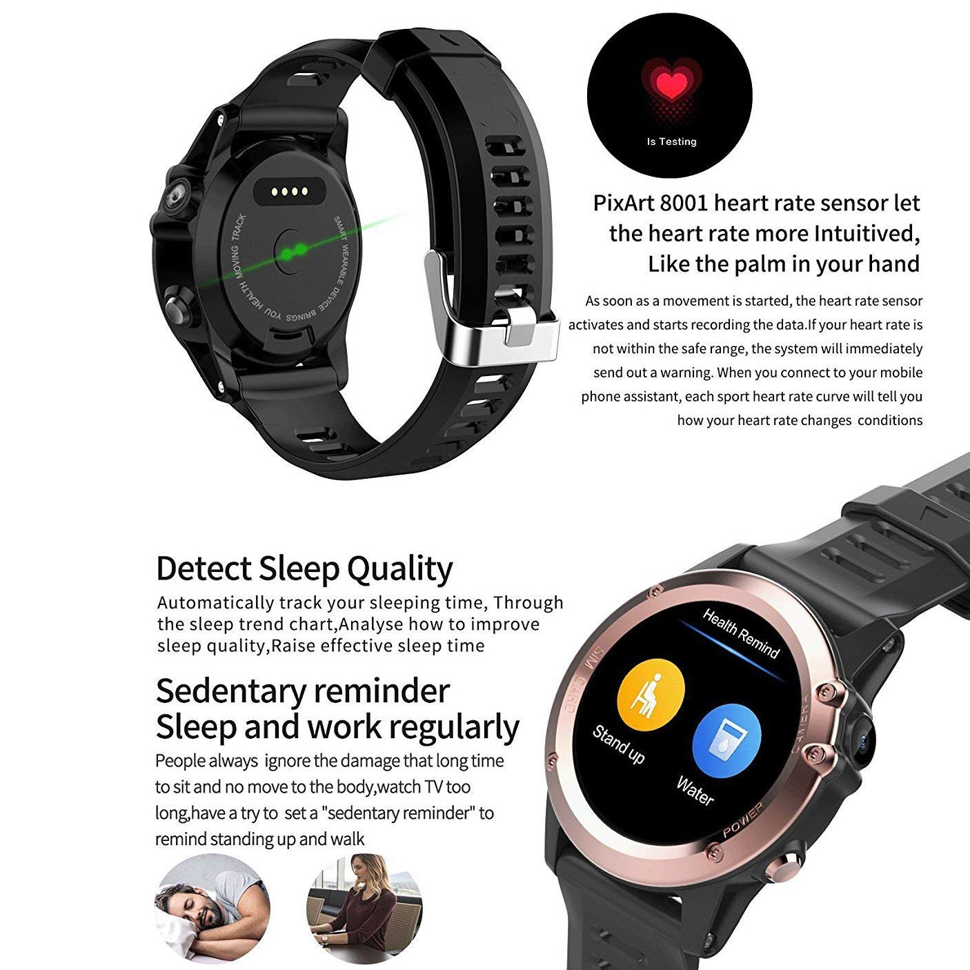 H1 Smart Watch MTK6572 IP68 Waterproof 1 39inch 400400 GPS Wifi 3G Heart  Rate Monitor 4GB+512MB For Android IOS Camera 500W (b