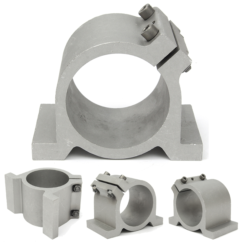 Best Price Sliver 80mm Diameter Spindle Motor Mount Bracket Clamp For CNC Engraving Machine Wholesale Price 80mm Spindle Mount 80mm spindle motor bracket seat cnc carving machine clamp motor holder cast aluminum sandblasting surface for 80mm spindle motor
