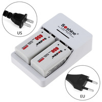 Original Soshine 9V Battery Charger With 2 Pcs 650 Mah Soshine Battery Bateria Lithium Ion Polymer