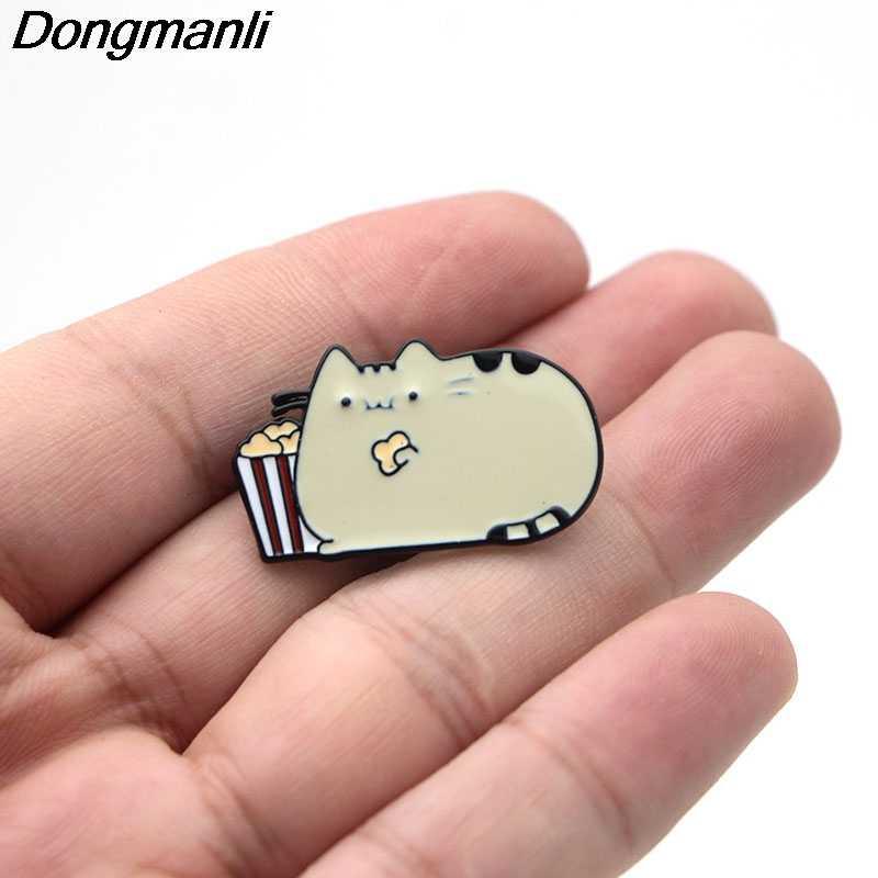 B2133 Dongmanli gioielli Carino Gatto Dello Smalto del Metallo pin distintivo spille abbigliamento Accessori Gioielli
