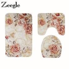 Европейский коврик для ванной с цветочным рисунком коврики и