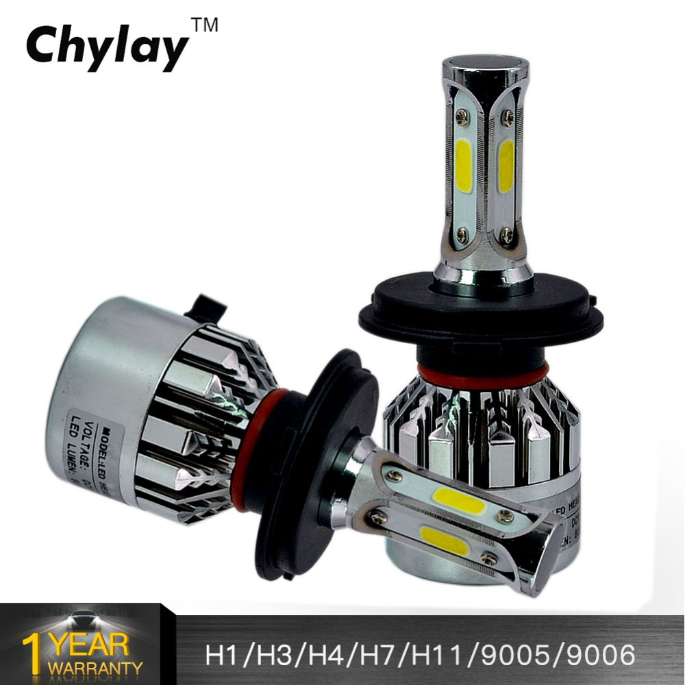 2Pcs H4 LED H7 H1 H3 H11 H8 H9 H13 9005 H10 9006 9007 881 Car Headlight Bulbs Auto Led Lamp 72W 8000lm Fog Lights 12V 6000k 2x car led headlight 12v 24v 72w 8000lm 6000k light cob bulbs automobile headlamp h1 h3 h4 h7 h8 h11 9005 9006 9004 880 9007 h13