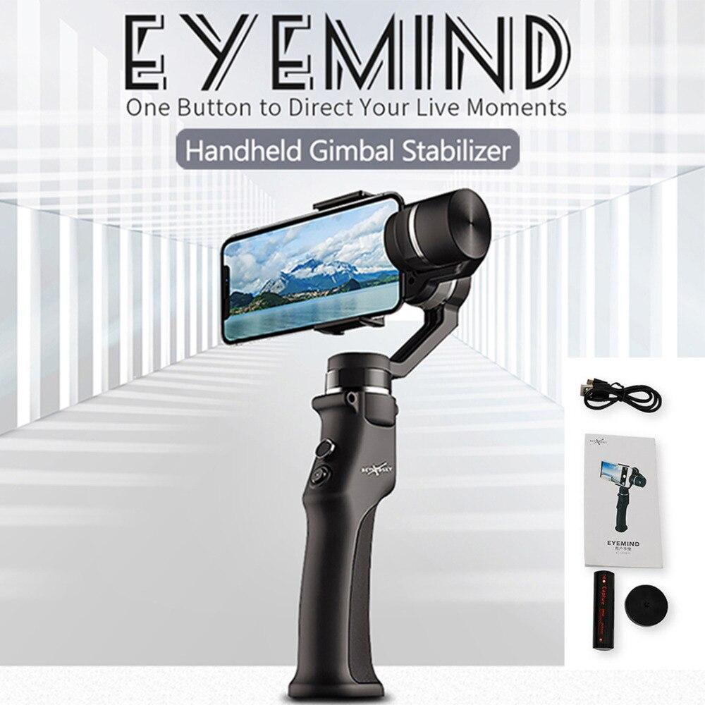 3 axes poche cardan Smartphone stabilisateur visage suivi Selfie bâton pour iPhone Huawei P20 Samsung S9 GoPro 7 caméras d'action