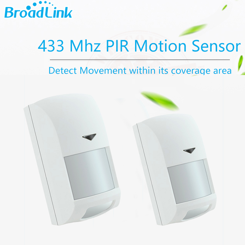 2pcs Broadlink PIR Motion Sensor Wireless Wifi Intelligent Infrared Anti theft Smart Home Automation Module for
