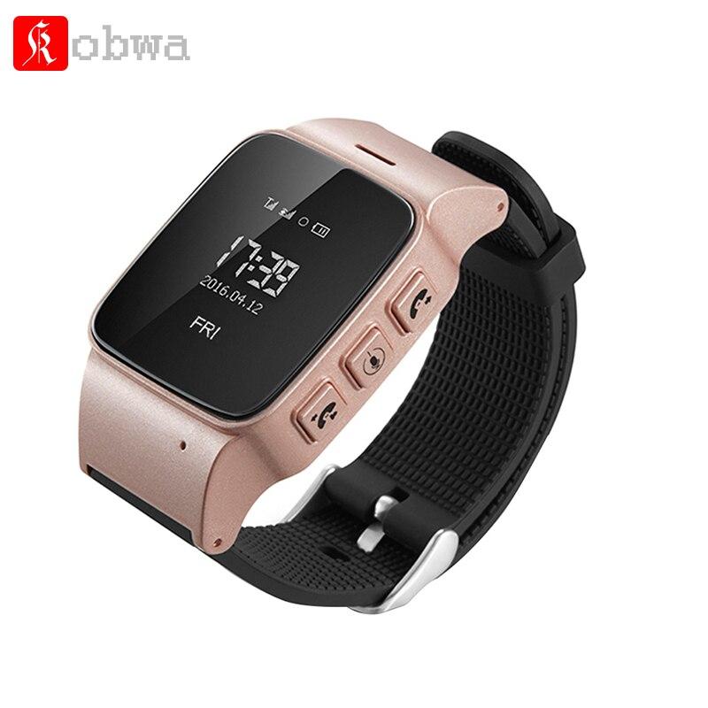 Personnes âgées montre Smart watch D99 Sécurité Anti-perdu £ Wifi LocatorWrist Smartwatch Aîné Dispositif Portable SOS Clarm Pour Android IOS téléphone
