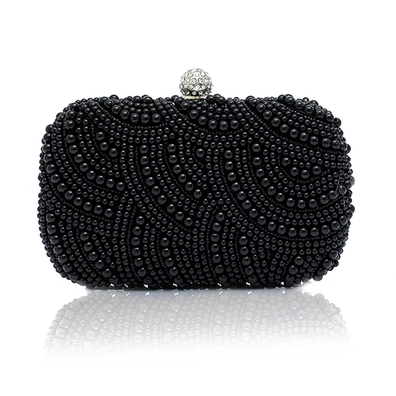 Moda debriyaj boncuk debriyaj gelin çanta altında kol çantası parti düğün akşam çanta, siyah