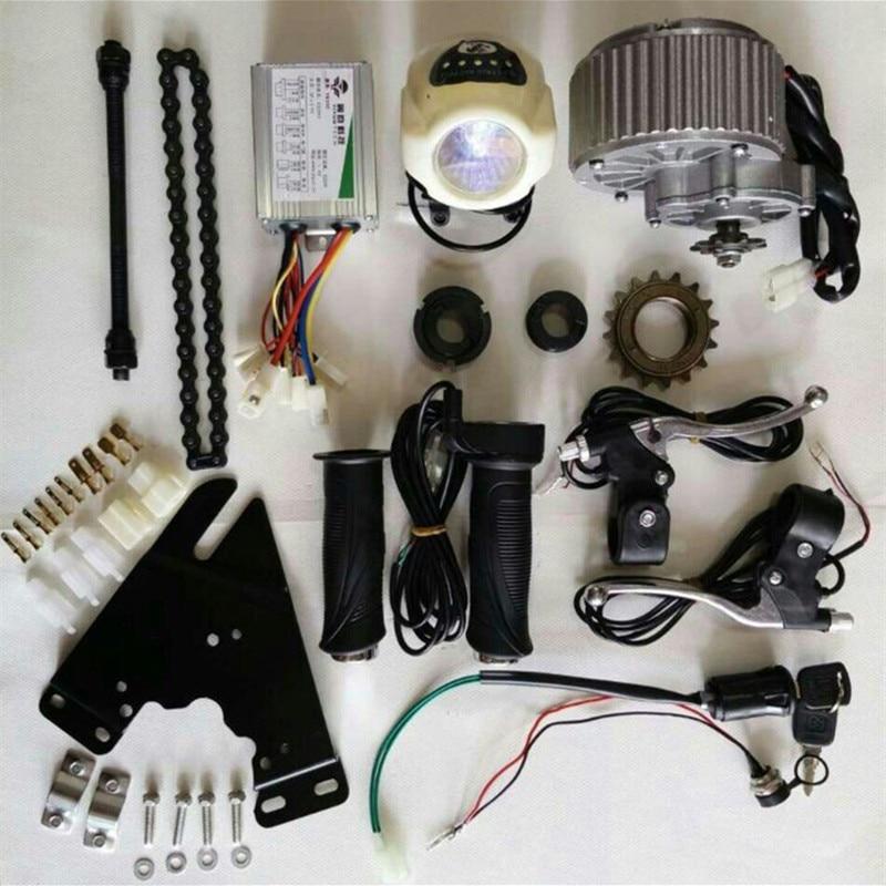 Bike motor kits dc 24v 450w diy 22 28 electric motors for Bicycle electric motor kits