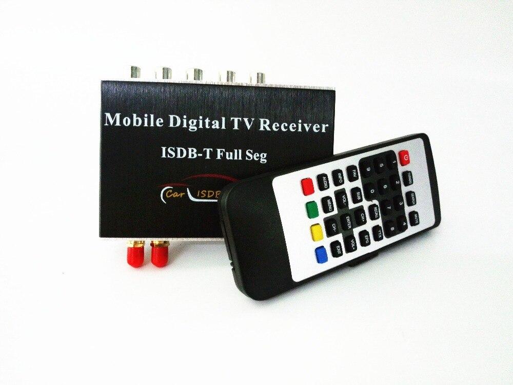 250 km/h double Tuner ISDB-T complet Seg Mobile TV numérique boîte voiture récepteur de télévision pour le brésil chili argentine pérou Philippines japon