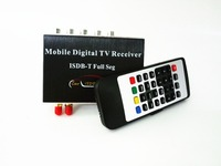 250km/h Dual Tuner ISDB T Full Seg Mobile Digital TV Box Car TV Receiver For Brazil Chile Argentina Peru Philippines Japan
