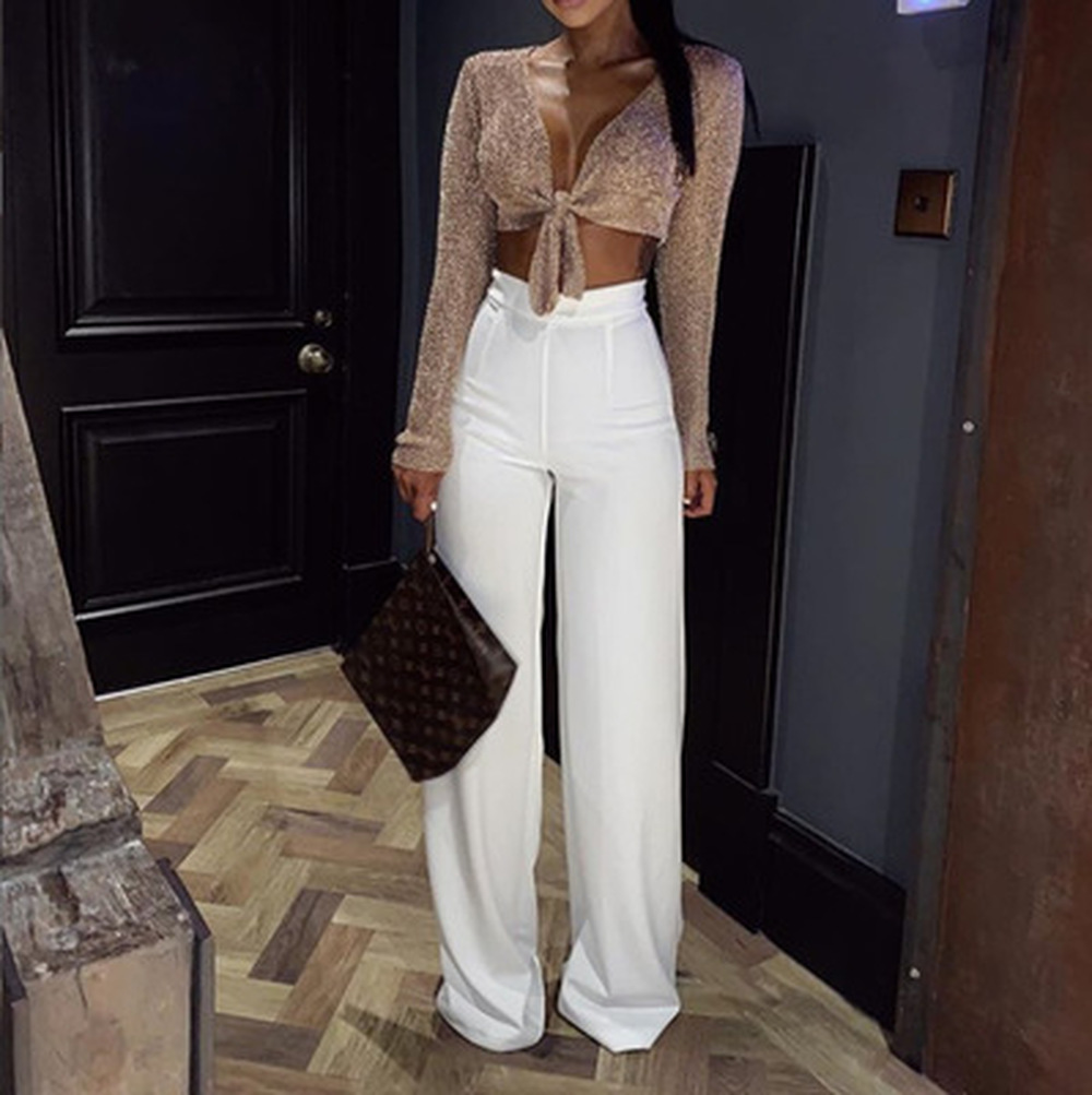 ZOGAA   Wide     Leg     Pants   Women Solid High Waist Loose Streetwear Trousers Full Length Dress   Pants   2019 Fashions Women Clothes   Pants