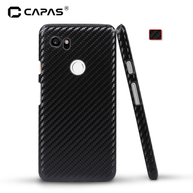 detailed look 1b02e f4b96 CAPAS Cover for Google Pixel 2 XL/ Pixel XL2 Case Hard PC Wood Pattern  Phone Case for Pixel 2 XL 3D Carbon Fiber Back Cover-in Half-wrapped Case  from ...