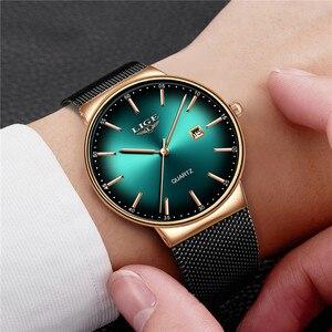 Image 5 - LIGEกีฬาวันที่บุรุษนาฬิกาแบรนด์หรูกันน้ำแฟชั่นนาฬิกาผู้ชายUltra Thin Dialนาฬิกาควอตซ์Relogio Masculino