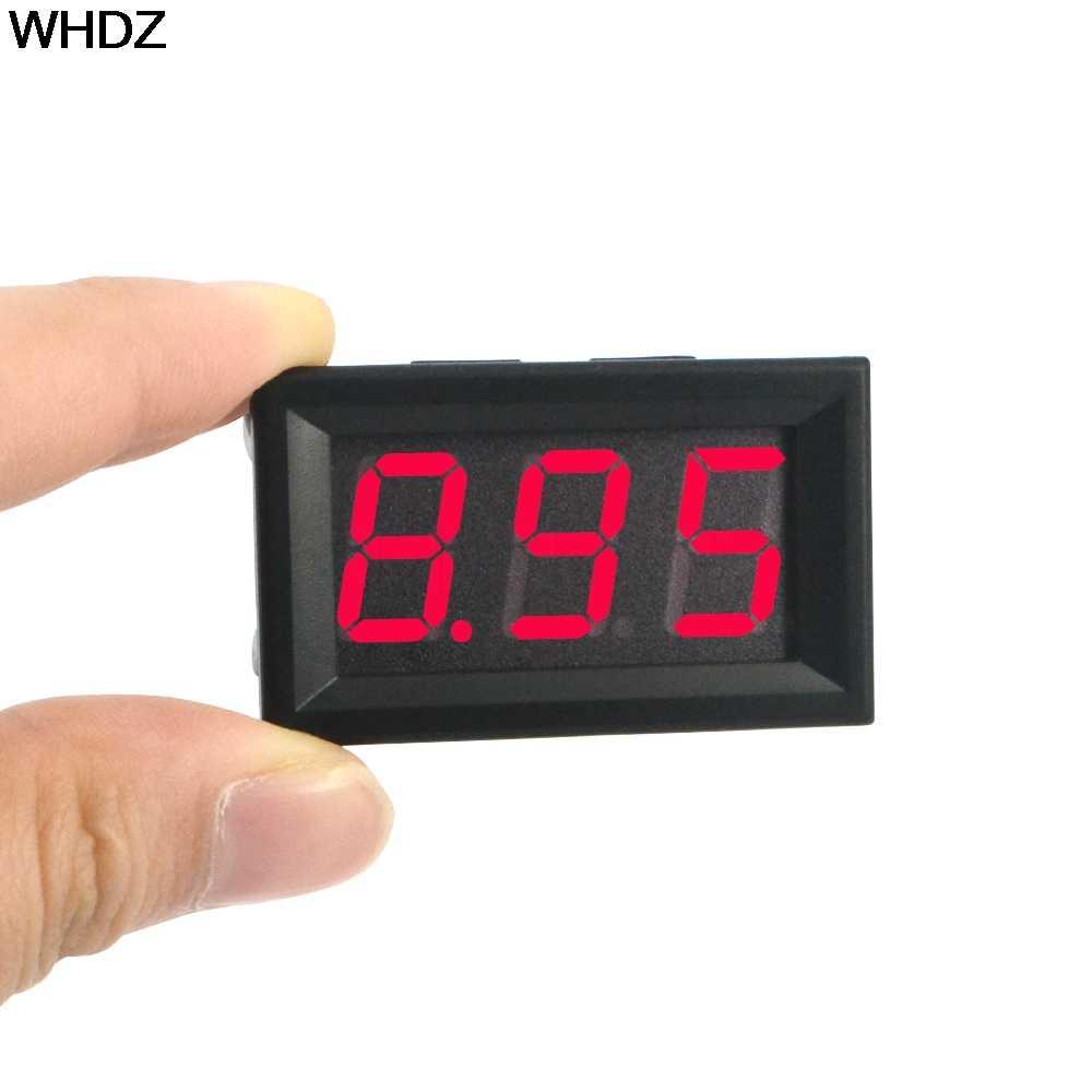 แรงดันไฟฟ้าMeter Tester 0.56นิ้วจอแอลซีดีDC 4.5-30โวลต์LEDสีแดงแผงมิเตอร์ดิจิตอลโวลต์มิเตอร์ที่มีสองลวดเครื่องมือไฟฟ้า