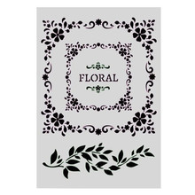 A4 Size DIY Craft Floral Pattern Stencil Template For Wall Painting Scrapbooking Stamping Photo Album Decor Embossing PaperCards